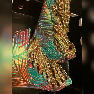 Multi Color Wedge Heel